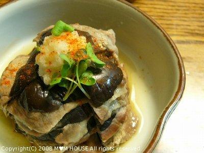 米なすと豚肉のミルフィーユ蒸し☆和香りレシピ♪_c0139375_16154681.jpg
