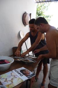 イタリアで焼き魚_f0106597_110534.jpg