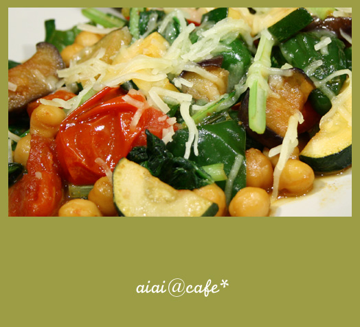 夏野菜のソテー・チーズカレー風味_a0056451_1544390.jpg