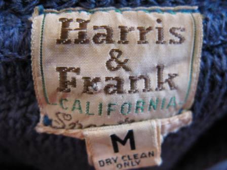 HARRIS&FRANK CARLIFORNIA 50'S-60\'S WOOL カーディガン _c0144020_13182310.jpg