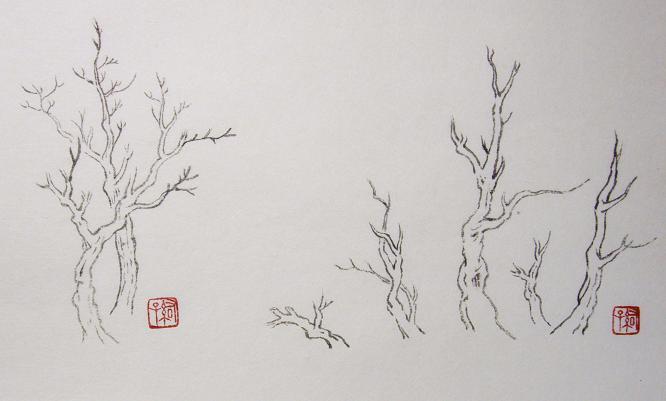『芥子園画伝』樹法 _c0160745_2242649.jpg