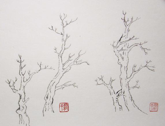 『芥子園画伝』樹法 _c0160745_2244368.jpg