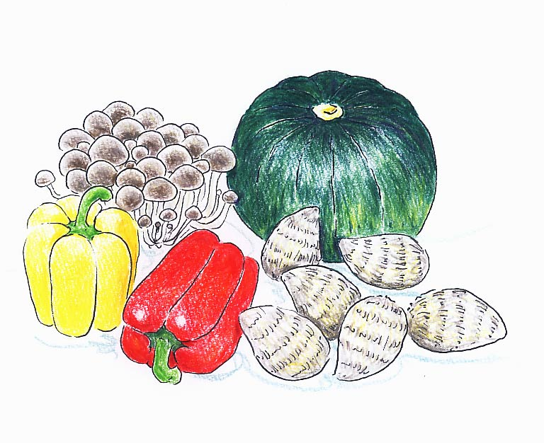 8/26(火)野菜の絵_f0072976_20563555.jpg