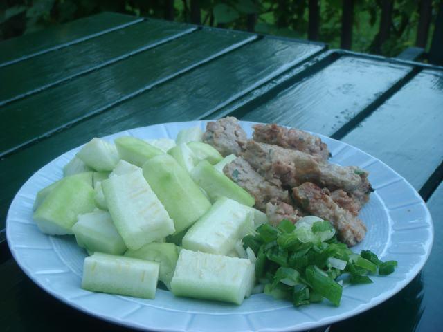 夏野菜で中華晩餐に万歳!_d0100880_2095560.jpg