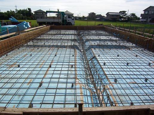 東石川の家Ⅱ 基礎工事中(2) 2008/8/27_a0039934_1844339.jpg