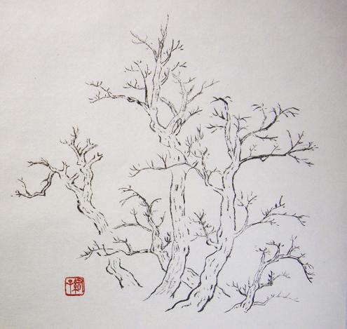 『芥子園画伝』 樹法③_c0160745_2328192.jpg