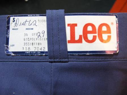 70\'S LEE WORK PANTS デッドストック!_c0144020_14344045.jpg
