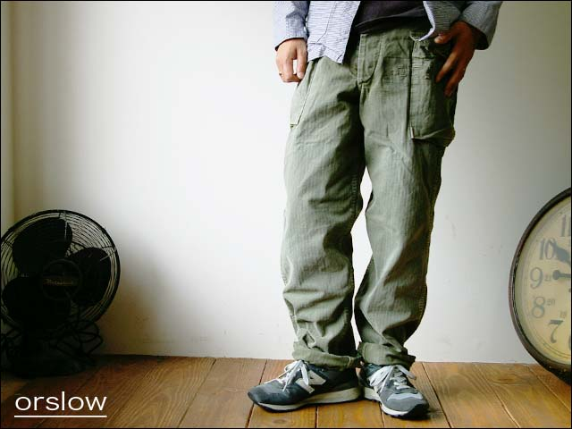 orslow/オアスロウ herring bone 2pocket pants_f0051306_18374225.jpg
