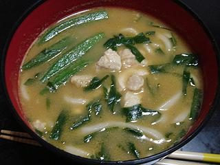 夏野菜と鶏肉のカレーうどん_c0025217_14434830.jpg