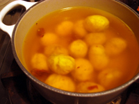 初物の栗で甘露煮を作る_c0110869_9441368.jpg