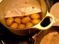 初物の栗で甘露煮を作る_c0110869_9442385.jpg