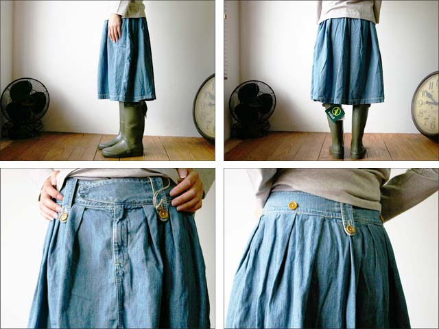 orslow/オアスロウ BRITISH CARGO SKIRT 8oz ジンバブエ denim_f0051306_12321074.jpg
