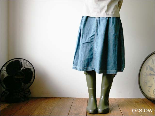 orslow/オアスロウ BRITISH CARGO SKIRT 8oz ジンバブエ denim_f0051306_1232157.jpg