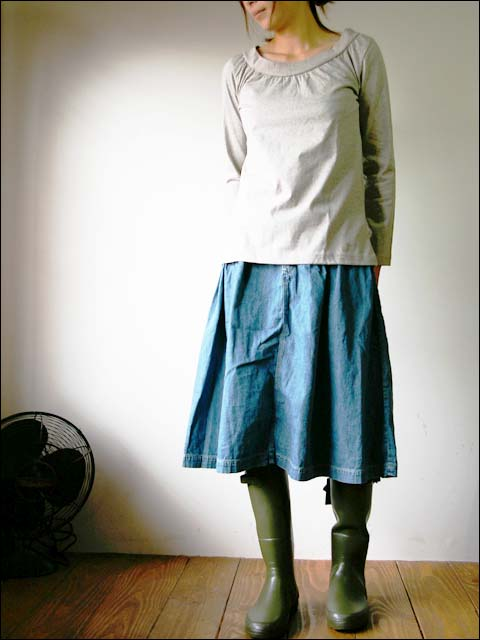 orslow/オアスロウ BRITISH CARGO SKIRT 8oz ジンバブエ denim_f0051306_1232276.jpg