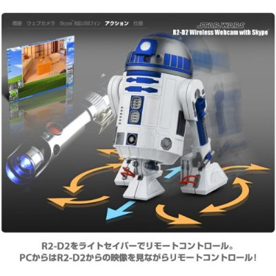 STAR WARS : R2-D2 Wireless Web Camera with Skype_f0011179_3582510.jpg