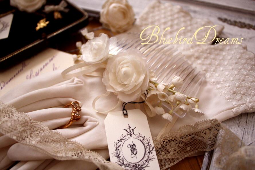 白いお花の髪飾り。。_c0178104_15483540.jpg
