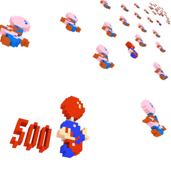 3DCG ドット絵 バルーンファイト