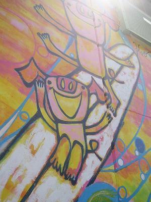 かおかおパンダさんの茅ヶ崎ツインウェイブ壁画_b0153224_176597.jpg