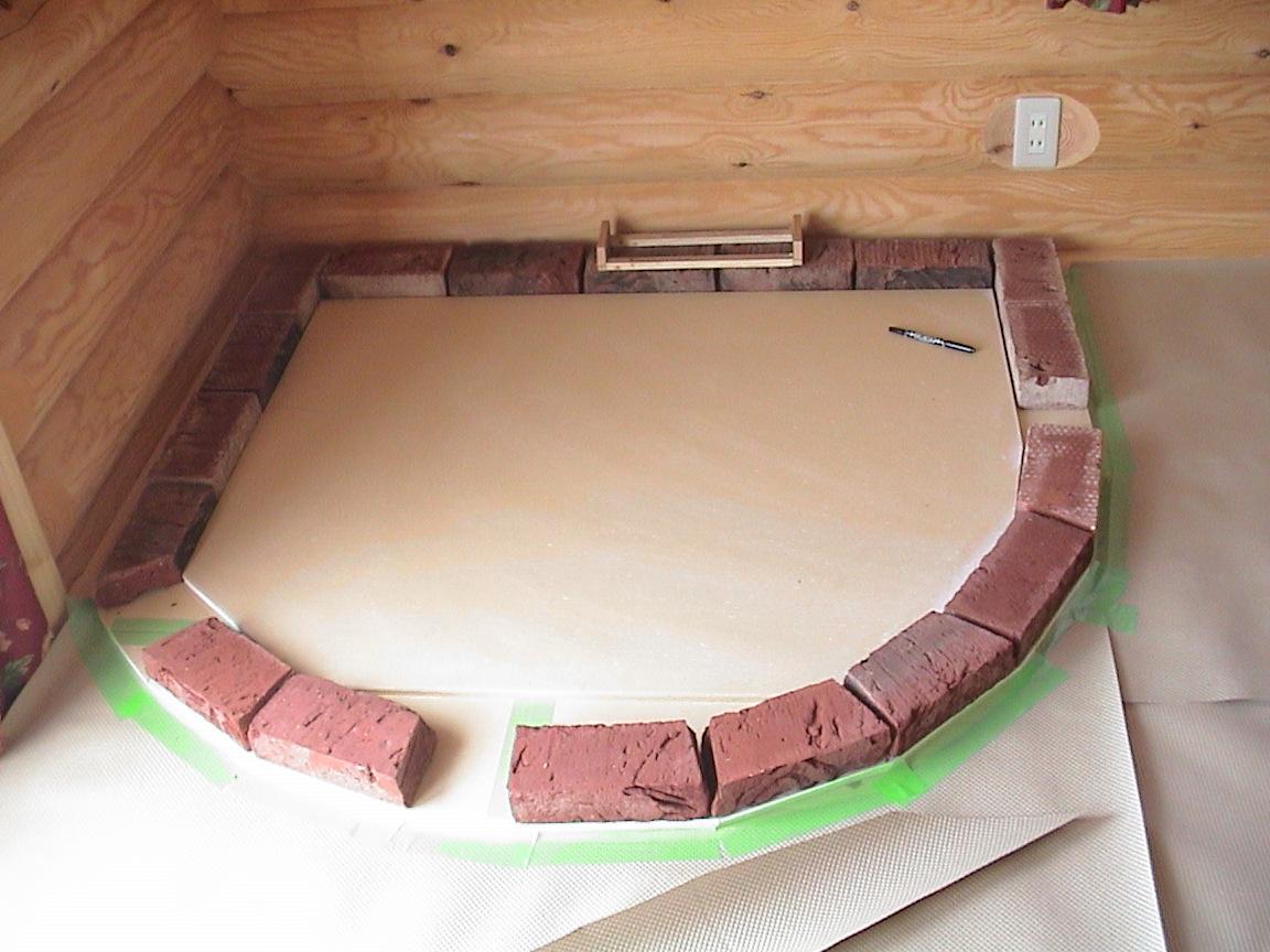 薪ストーブの炉台作り(1日目)~回想_f0047524_14544041.jpg