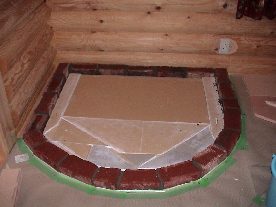 薪ストーブの炉台作り(1日目)~回想_f0047524_1532976.jpg