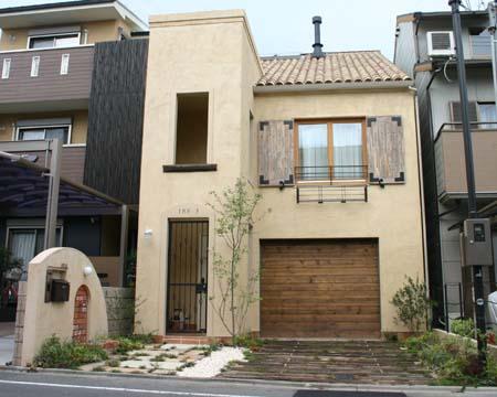 外構工事 ピンクとグリーンの壁の家_e0074935_15125039.jpg