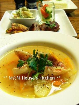 赤魚のトマト風味スープと献立☆GABANスパイス♪_c0139375_15253950.jpg