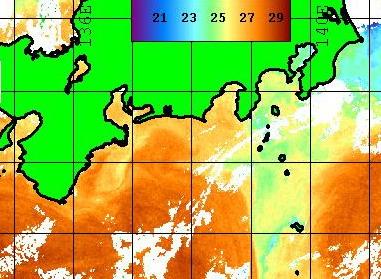 串本 熊野灘から潮が入り   大島東 野島の潮は離散・・・ [カジキ マグロ トローリング]_f0009039_1041640.jpg