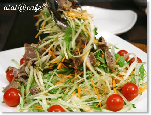 牛肉と香味野菜のサラダ_a0056451_1704014.jpg