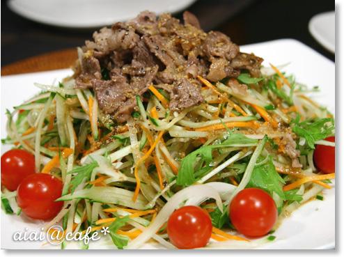 牛肉と香味野菜のサラダ_a0056451_1712653.jpg