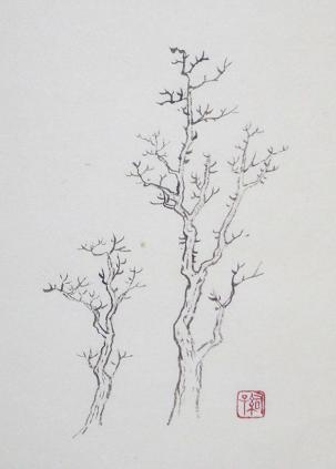 『芥子園画伝』 樹法⑰_c0160745_22115877.jpg
