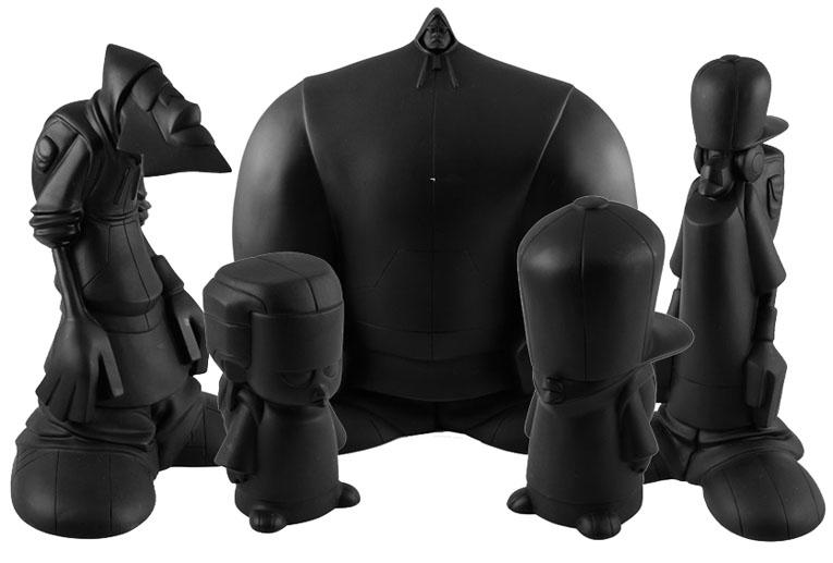 Hoodiez Black Blank set of 5 by Carl Jones_e0118156_8184856.jpg