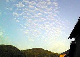 秋の雲、うろこ雲_e0103327_1757059.jpg