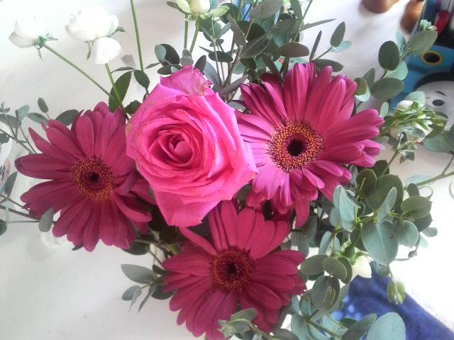 お花をもらったよ_f0132234_115492.jpg