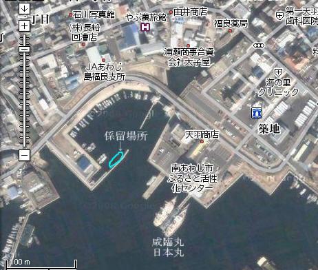 久しぶりの淡路・福良港 : In the pontoon bridge