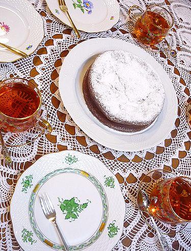 ガトー・ショコラ・ナンシー♪  台風の夜もMini Maria\'s Tea Cup の小さな微笑み**。。。 *。:☆.。† _a0053662_8174858.jpg