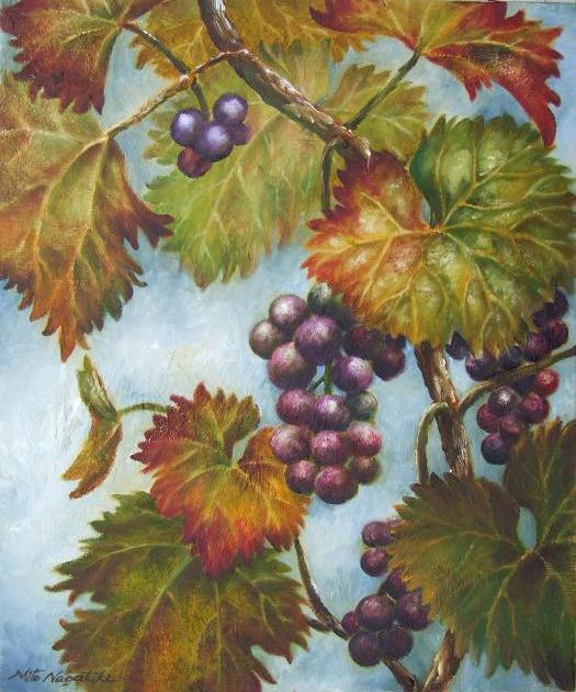 葡萄の絵~油絵~_b0089338_18595433.jpg