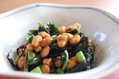 水前寺菜の納豆和え_c0124528_1532095.jpg