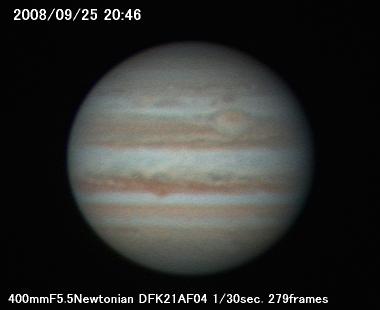 今日の木星080925 その1_a0095470_21345968.jpg