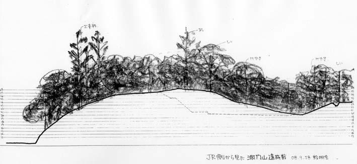 高野台に「洞門山を無謀な開発から守ろう!」のビラを配布_c0014967_18532888.jpg