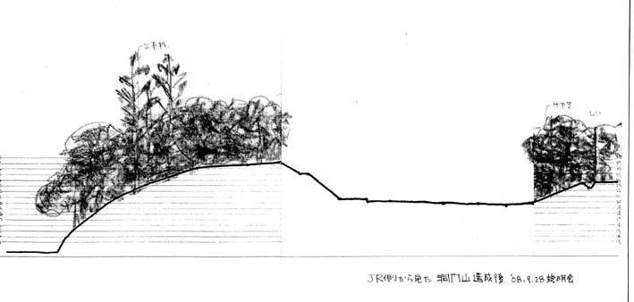 高野台に「洞門山を無謀な開発から守ろう!」のビラを配布_c0014967_18534186.jpg