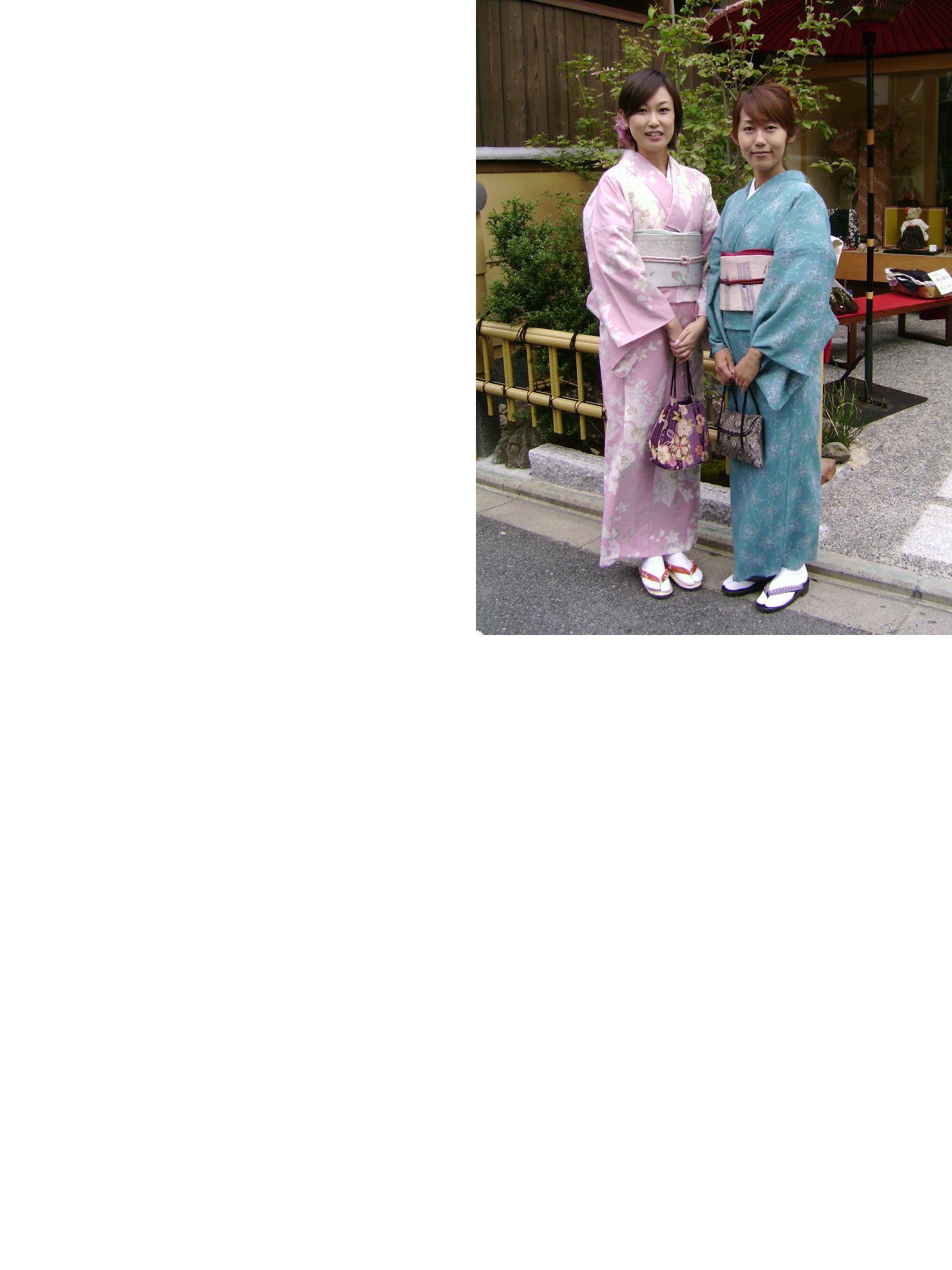 着物にハマッタお二人_b0121719_18335325.jpg