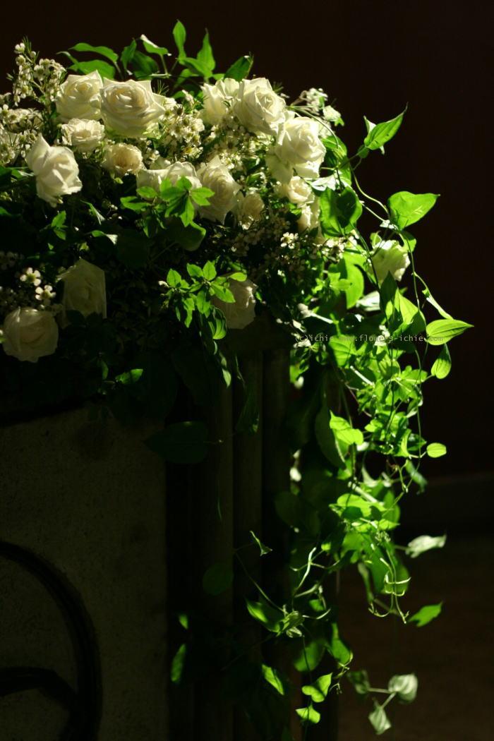 東京女子大学 教会の装花 白バラの時_a0042928_2123246.jpg