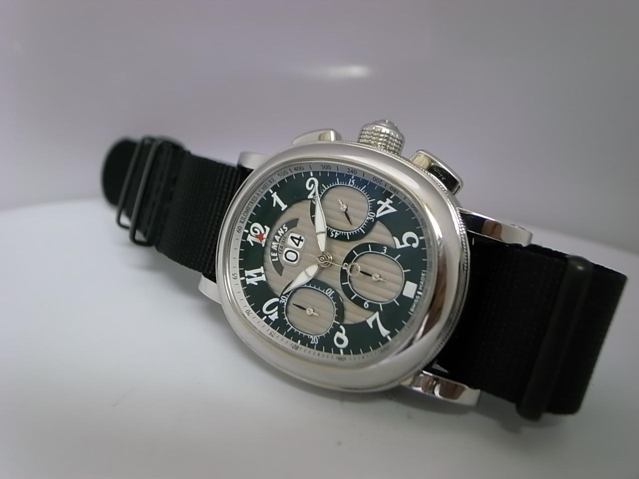 NATOストラップに交換しました。 パンチングレザーのライダース  時計莫迦一代