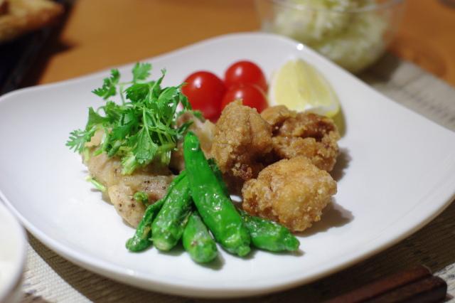 鶏のから揚げ 香草レモンソース・にんにく醤油味_f0179404_2213333.jpg