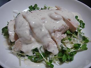 蒸し鶏サラダ_c0025217_16445840.jpg