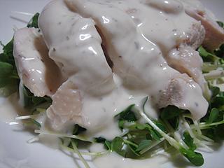 蒸し鶏サラダ_c0025217_1645510.jpg