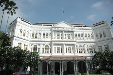 シンガポール、ラッフルズ・ホテルと旅人の木_b0053082_148164.jpg