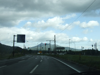 車の中から駒ケ岳