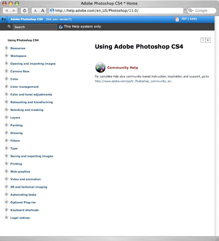 Adobe Photoshop CS4 と Bridge CS4 のオンラインヘルプ(英文)_f0077521_9251361.jpg