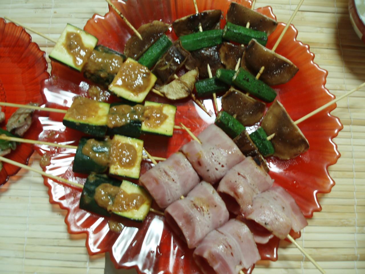 楽しい串焼き大パーティー♪_b0137453_1833469.jpg